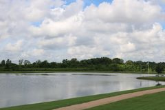 Hemelbeeld voor de Riviergang van Sugar Land Memorial Park en Brazos- royalty-vrije stock foto