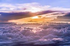 Hemelgrand van wolken en skyscape Stock Foto