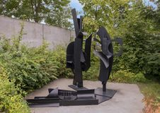 ` Hemellandschap ` door Louis Nevelson, Olympisch Beeldhouwwerkpark, Seattle, Washington, Verenigde Staten stock afbeeldingen