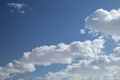 Hemellandschap met witte wolk Royalty-vrije Stock Afbeelding