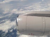 Hemelmening van vliegtuig Stock Foto
