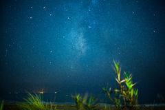 Hemelnacht met sterren Stock Foto