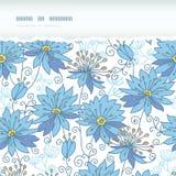 Hemels bloemen horizontaal gescheurd naadloos patroon stock illustratie