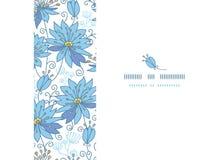 Hemels bloemen horizontaal naadloos patroon royalty-vrije illustratie