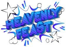 Hemels Feest - de Grappige woorden van de boekstijl vector illustratie