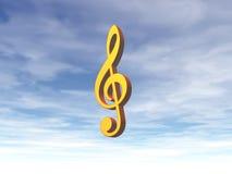 Hemels geluid royalty-vrije illustratie