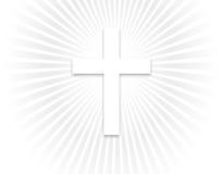 Hemels Licht en Kruis Stock Illustratie