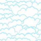 Hemels naadloos patroon met wolken vector illustratie