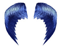 Hemelse Blauwe Vleugels vector illustratie