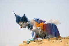 Hemelse Carrousel, de prestaties van het straattheater Stock Foto's