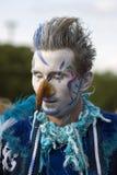 Hemelse Carrousel, de prestaties van het straattheater Stock Fotografie
