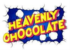 Hemelse Chocolade - de Grappige woorden van de boekstijl vector illustratie