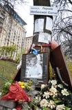Hemelse honderden van mensens Herdenkingshelden in Kyiv_11 Royalty-vrije Stock Foto's