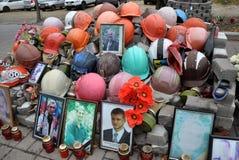 Hemelse honderden van mensens Herdenkingshelden in Kyiv_15 Royalty-vrije Stock Afbeelding
