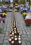 Hemelse honderden van mensens Herdenkingshelden in Kyiv_4 Royalty-vrije Stock Afbeelding