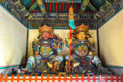 Hemelse koningen in westelijk en noordelijk Boeddhisme - Royalty-vrije Stock Afbeelding