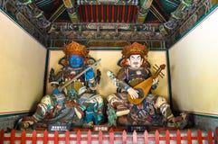 Hemelse koningen in zuidelijk en oostelijk Boeddhisme - Stock Foto