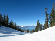 Hemelse skitoevlucht Royalty-vrije Stock Foto