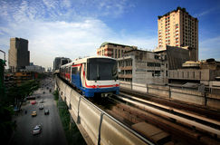 Hemeltrein in Bangkok royalty-vrije stock foto's