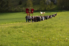 Hemelvaartsdagoptocht in Beieren Stock Foto