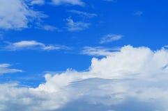 Hemelwolken, hemel met wolken en zon Royalty-vrije Stock Foto's