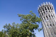 Hemer Sauerland, norr Rhen Westphalia, Tyskland - Augusti 16 2013: Den iconic bergturmen för ¼ för tyskLandesgartenschau torn JÃ royaltyfria bilder
