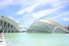Hemesferic en Museum van Wetenschap, Valencia Stock Fotografie
