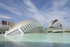 Hemesferic och slott av konsterna, Valencia Royaltyfria Bilder