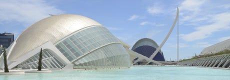 Hemesferic y ágora, Valencia Foto de archivo