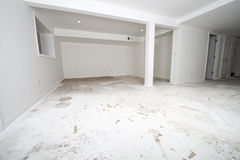 Hemförbättring omdanar, det nya golvet som däckar Arkivfoto