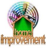 Hemförbättringsymbol med arbetshjälpmedel Royaltyfri Bild