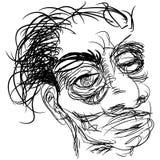 Hemfallen man för drog vektor illustrationer