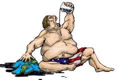 hemfallen olja till stock illustrationer