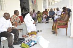 Hemgift en nyckel- beståndsdel i traditionell förbindelse i Afrika Arkivbild