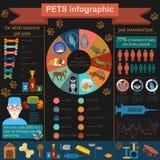 Hemhjälpen daltar infographic beståndsdelar, helthcare, veterinär Arkivbilder