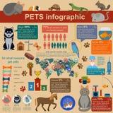 Hemhjälpen daltar infographic beståndsdelar, helthcare, veterinär Royaltyfri Fotografi