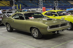 Hemi cuda. Montreal october 10-12, 2014 picture of 1970 plymouth hemi cuda in display during the autorama event Stock Photo
