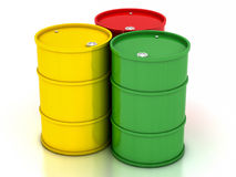 сhemical variegated barrels Stock Photography
