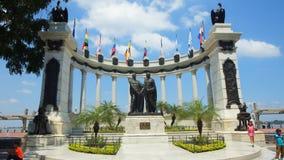Hemiciclo de la Rotonda Le monument a été créé pour commémorer l'entrevue entre Simon Bolivar et Jose de San Martin Images stock