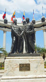 Hemiciclo de la Rotonda. The monument was created to commemorate the interview between Simon Bolivar and Jose de San Martin. Stock Photos