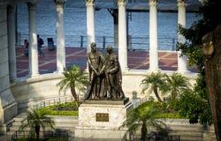 Hemiciclo of La Rotonda in Guayaquil. Monument dedicated to Simon Bolivar and San Martin, called La Rotonda in the main area of Malecon 2000, Guayaquil, Ecuador Royalty Free Stock Photo