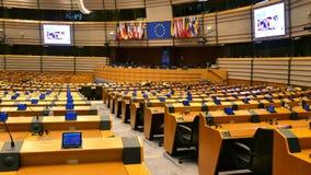 Hemicycle Европейского парламента Брюссель/Бельгия стоковая фотография rf