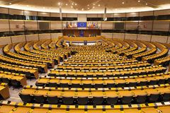 Hemicycle of the European Parliament Stock Photography
