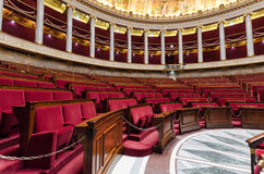 Hemicycle of French national assembly  in Paris, France Royalty Free Stock Photo