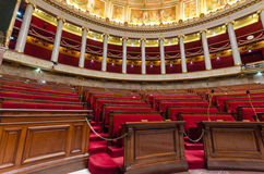 Hemicycle of French national assembly  in Paris, France Stock Image