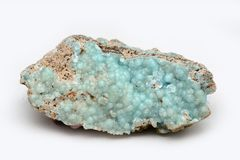 hemimorphite, un minerale metallifero di zinco Immagini Stock Libere da Diritti
