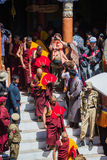 Hemis Festival 2014 at Hemis Monastery. Stock Photo