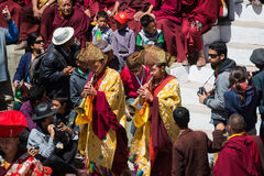 Hemis Festival 2014 at Hemis Monastery. Royalty Free Stock Images