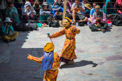 Hemis Festival 2014 at Hemis Monastery. Stock Images