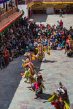Hemis Festival 2014 at Hemis Monastery. Royalty Free Stock Photo